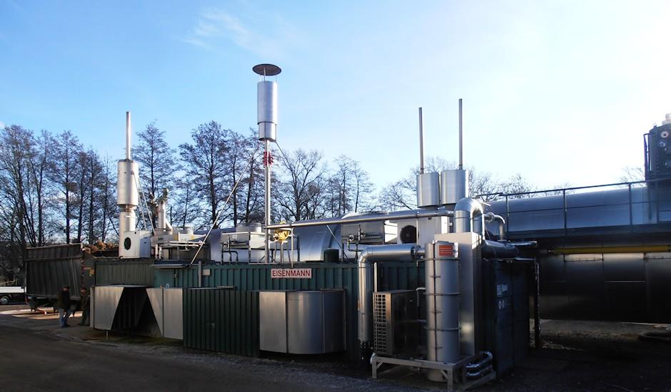 Biogasfakel an Biogasanlage