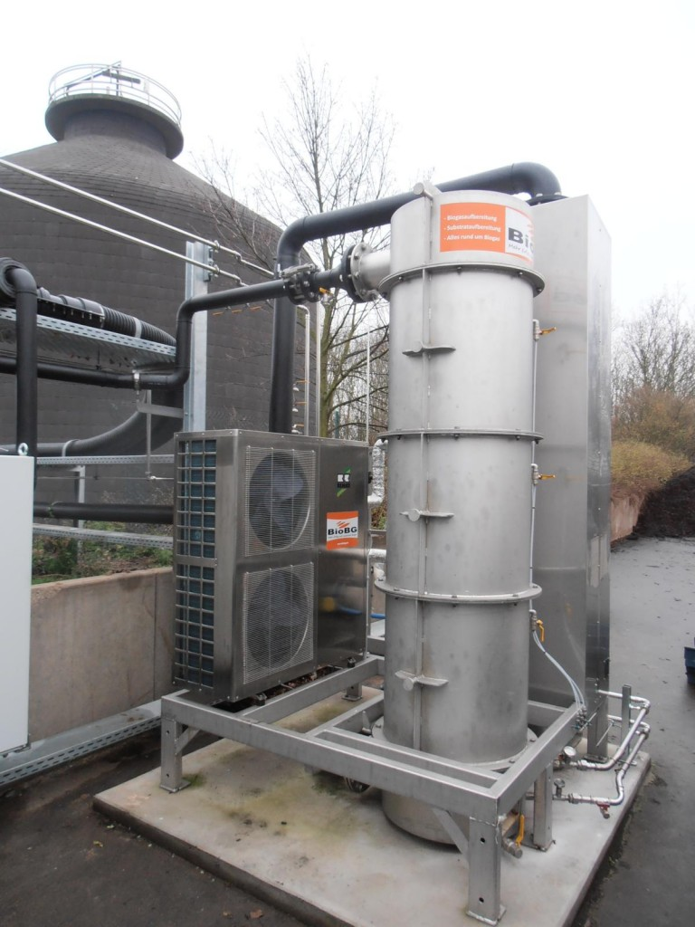 Kompaktreinigung Gaskühlung Aktivkohlefilter